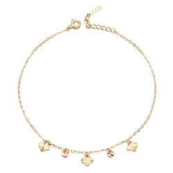 14k / 18k flower anklets can-can