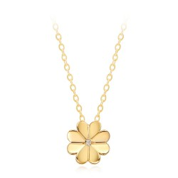 [Full SAT luck origin] 14k / 18k piece four-leaf clover necklace