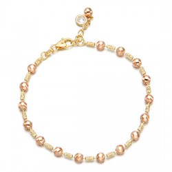 14k / 18k bracelet Shine pink balls