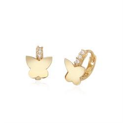 14k / 18k mini butterfly earring queue