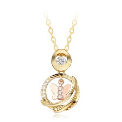 14k / 18k Small Butterfly Necklace Shearing