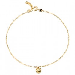 14k / 18k open heart anklets