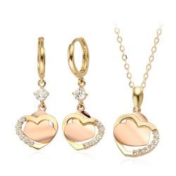 14k / 18k pink hearts Set Ribeiro