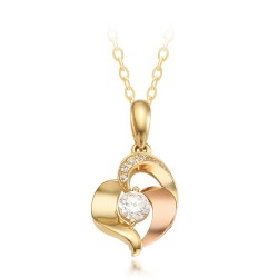 14k / 18k Rubel Heart Necklace