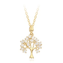 14k / 18k Day Tree Necklace