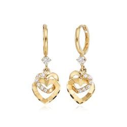 14k / 18k earring Phoenix Heart