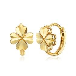 14k / 18k four-leaf clover earring