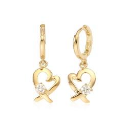 14k / 18k x Heart earring