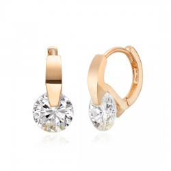 [Gift highly recommended !!] 14k / 18k tiring earring [size can be selected;