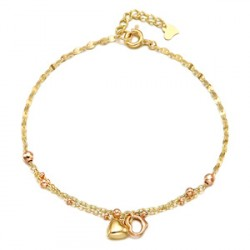14k / 18k bracelet jelly hearts