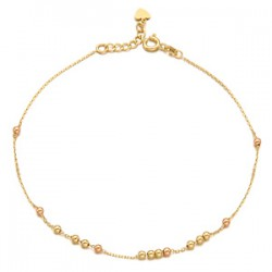 14k / 18k Moving ball anklets