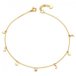 14k / 18k moonlight sky anklets