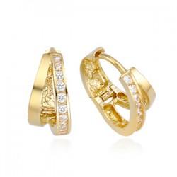 14k / 18k romance shoe earring