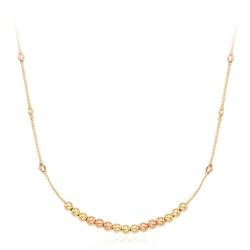 14k / 18k moving the ball one-piece necklace