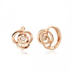 14k / 18k Rose cents earring