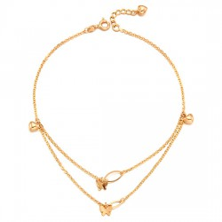 14k / 18k two-way butterfly anklets
