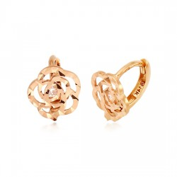 14k / 18k rose shiny earring