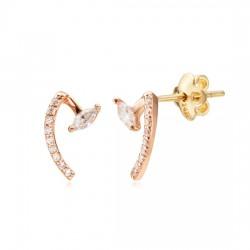 14k / 18k earring Lisse HEM