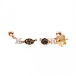 14k / 18k antique cue ball earring