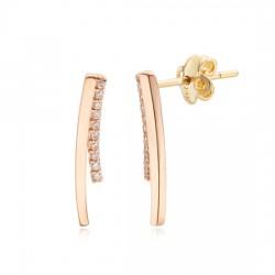 14k / 18k round stick earring
