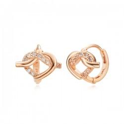 14k / 18k love du earring