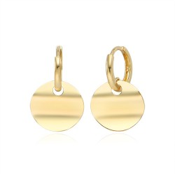 New Moon Wave 14k earring