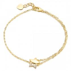 14k / 18k cubic zirconia bracelet star