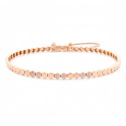 14k / 18k hexagon link bracelet