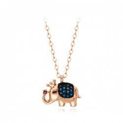 14k / 18k Fortune Elephant monolithic necklace