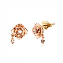 14k / 18k lavian rose earring