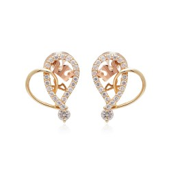 <font color=#f50303><b>(Limited quantity 2Piece)</b></font> <br> 14k mini tiara heart earring