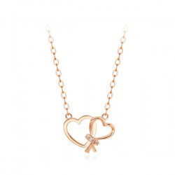 14k / 18k Love knot all-in-one necklace
