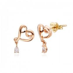 14k / 18k rubbing oil earring