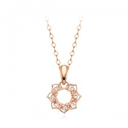 Necklace with 14k / 18k