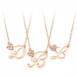 14k / 18k Heart Queue initials Necklace Collection