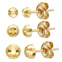 14k / 18k Cutting ball earring collection [3TYPE]