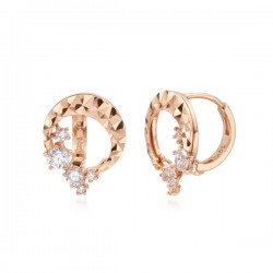 14k / 18k double ring earring