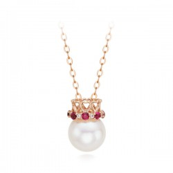 14k / 18k Corona Pearl Integral Necklace