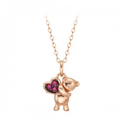14k / 18k Love Bear Necklace