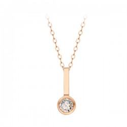 14k / 18k stick bezel all-in-one necklace