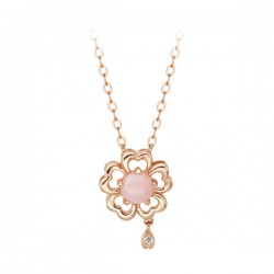 14k / 18k Cherry Blossom Integral Necklace